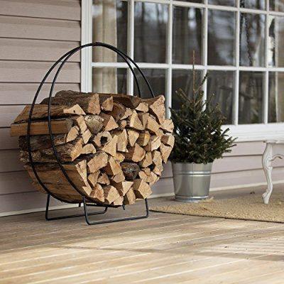 """Uniflame Log Hoop with 1/2"""" Solid Stock, Black"""