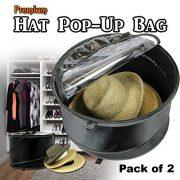 The Elixir Deco 2 Bags, Premium Collapsible Pop-Up Dust Cover Hat Bag