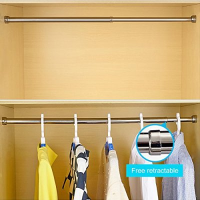 STARTOSTAR Adjustable Closet Rod 21.6 to 40.5 Inch Stainless Steel