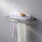 Kes Bathroom Bath Towel Rack with Double Towel Bar 24-Inch