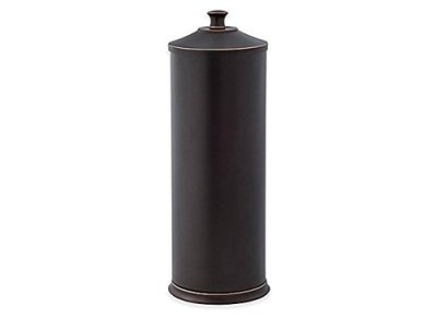 Toilet Paper Reserve Holder with Lid in Two-Tone Oil Rubbed Bronze