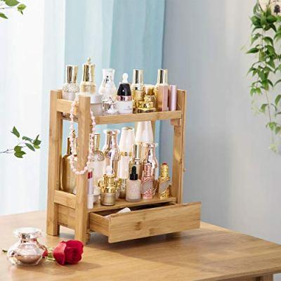 PELYN Makeup Organizer Cosmetic Storage Vanity Shelf Display Stand Rack