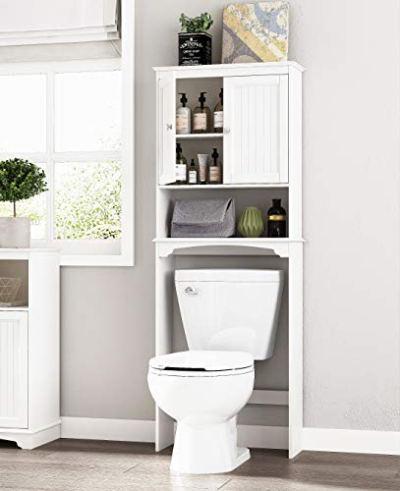 Spirich Home Bathroom Shelf Over-The-Toilet, Bathroom SpaceSaver