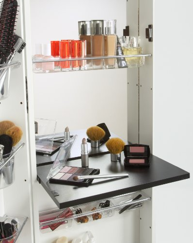 Mirrotek Deluxe Makeup Organizer, White