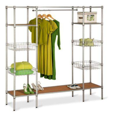 Honey-Can-Do Freestanding Steel Closet System with Basket Shelves