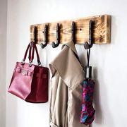 Vintage Rustic Coat Rack -Authentic Pine Wood Hanger Rack For Towels