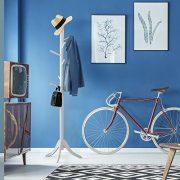 Vlush Free Standing Coat Rack,Wooden Coat Hat Tree Coat Hanger