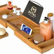 Royal Craft Wood Luxury Bathtub Caddy Tray, One or Two Person