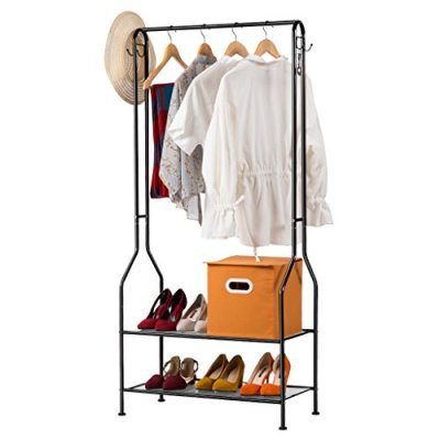 LANGRIA Heavy Duty Commercial Grade Clothing Garment Rack