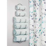 mDesign Wall Mount Metal Wire Towel Storage Shelf Organizer Rack Holder