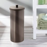 iDesign Kent Plastic Toilet Paper Tissue Roll Reserve Canister