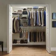 ClosetMaid ShelfTrack 5ft. to 8ft. Adjustable Closet Organizer Kit
