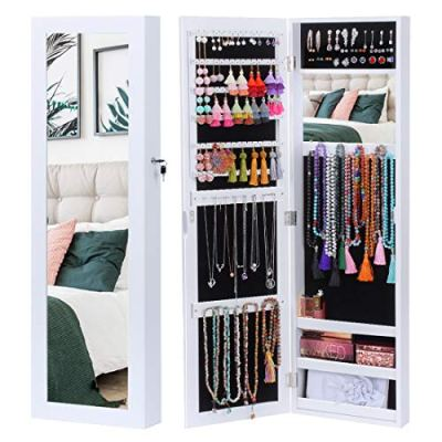 KING BIRD Jewelry Organizer Lockable Jewelry Armoire Storage Holder Box