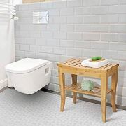 OasisCraft Bamboo Shower Chair with Free Soap Dish