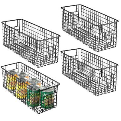 mDesign Farmhouse Decor Metal Wire Food Storage Organizer Bin Basket