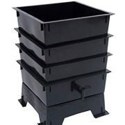 Worm Factory 3-Tray Worm Composter, Black