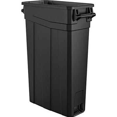 AmazonBasics 23 Gallon Commercial Slim Trash Can with Handle