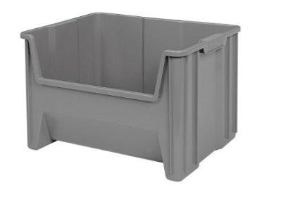 Akro-Mils Stak-N-Store Stacking Hopper Front Plastic Storage Bin
