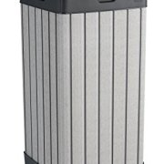 Keter Rockford Duotech Outdoor Plastic Resin Trash Can