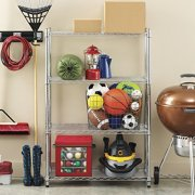 Whitmor Supreme 4 Tier Shelving with Adjustable Shelves and Leveling Feet