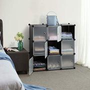 SONGMICS Cube Storage Organizer, 9-Cube DIY Plastic Closet Cabinet