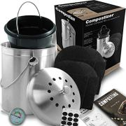 Compostizer Introducing Stainless Steel 1.3 Gal Kitchen Compost Bin Kit