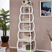 "Mixcept 66"" Multi-Purpose Shelves 5 Tier Bookshelf Bookcases Wooden Storage"