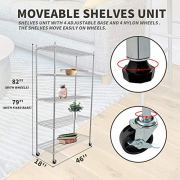 SUNCOO 5 Tier Strengthen Commercial Adjustable Steel Wire Shelf Unit