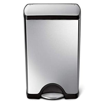 simplehuman 38 Liter / 10 Gallon Stainless Steel Rectangular Kitchen Step Trash Can