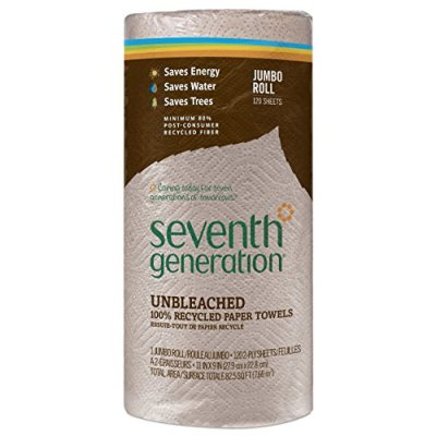 Seventh Generation Unbleached Paper Towels, 100% Recycled Paper