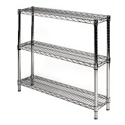 """8"""" d x 36"""" w Chrome Wire Shelving with"""