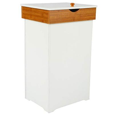 Home-Like Kitchen Trash Can with Lid Country Trashcan Wood Trash