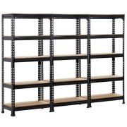 Topeakmart 5-Shelf Heavy Duty Storage Shelving Unit Garage Shelving Rack