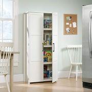 Sauder Homeplus Storage Cabinet, Soft White Finish