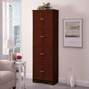 NBLiner Wood Storage Cabinets Collection with 8 Door Shelf Wall