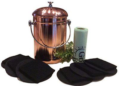 Kitchen Compost Pail Bin for Countertop - 1 Gallon Food Scrap Container