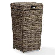 Crosley Furniture Bradenton Outdoor Wicker Trash Bin