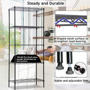 Wire Shelving Unit, NSF 5-Tier Layer Shelf Utility Steel Commercial Grade Storage