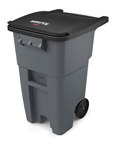 Rubbermaid Commercial Products BRUTE Rollout Heavy-Duty Wheeled Trash