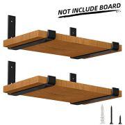 LuckIn Heavy Duty Shelf Bracket 12 Inch, Rustic Black Wall Bracket