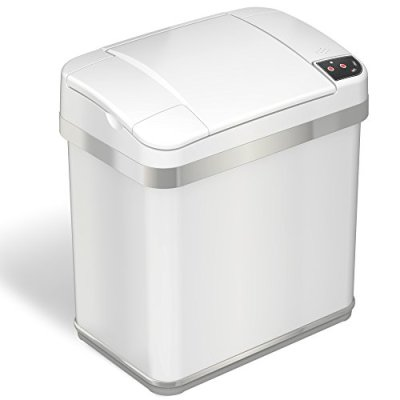 iTouchless 2.5 Gallon Bathroom Touchless Trash Can with Odor Filter