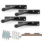 BATODA - Heavy Duty Floating Shelf Bracket (4 pcs) - Solid Steel