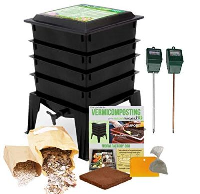 Worm Factory 360 Composting Bin + Moisture and pH Testing