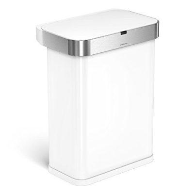 simplehuman 58 Liter / 15.3 Gallon Stainless Steel Touch-Free Rectangular Kitchen