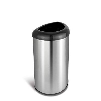 NINESTARS Open Top Office Bathroom Trash Can, 13 Gal 50L