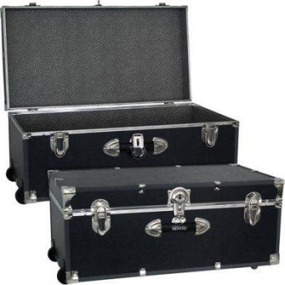 Mercury Luggage Seward Trunk Wheeled Storage Footlocker