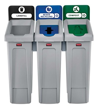 Rubbermaid Commercial Products Slim Jim Recycling Station