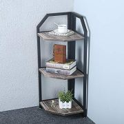 Industrial Metal Bookshelf Modern/Rustic Corner Book Shelves