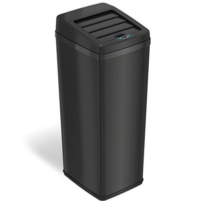 iTouchless 14 Gallon Sliding Lid Automatic Sensor Trash Can