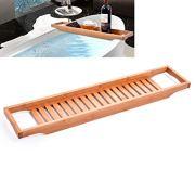 Peppermint. Storage Holders & Racks - Bamboo Wooden Bathtub Caddy